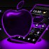 Violet Neon Apple Tech Theme