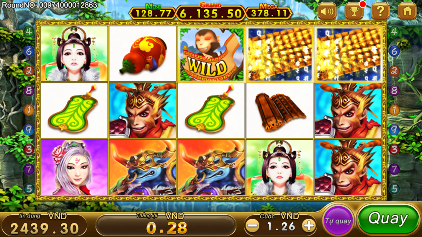 A picture containing text, slot machine, colorful, different  Description automatically generated
