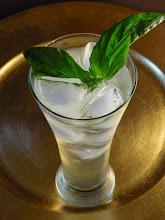 Photo: The Herbarium Cocktail:  Gin, St-Germain, cucumber, basil, lemon juice, club soda