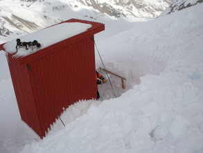 Photo: dito, needing shoveling to free the entrance