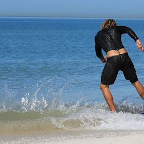 Clearwater Beach  by Theresa Murray - Sports & Fitness Surfing ( water, wakeboard, glide, fun )