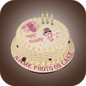 Photo on Birthday Cake - Name on Birthday Cake icon