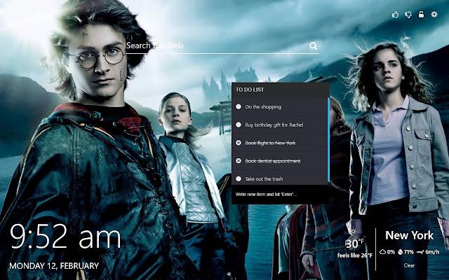 18d92b9535cd2 Harry Potter Wallpapers HD New Tab Theme