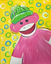 Photo: Pink sock monkey