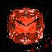 Orange Diamond Clock Widget Icon