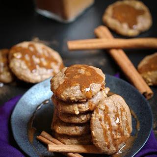 Cinnamon Chai Oatmeal Cookies with Chai Caramel Glaze