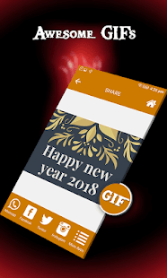 Happy New Year GIF 2018 : New Year Greeting Cards - náhled