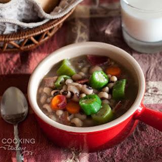 Quick Black-Eyed Pea Soup.