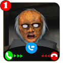 scary granny's video call/chat game prank icon