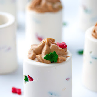 Chocolate Shot Glass with Gingerbread Cheesecake Filling