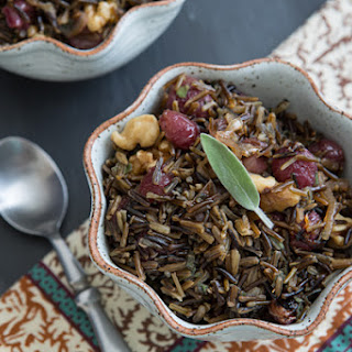 Wild Rice with Roasted Grapes & Walnuts.
