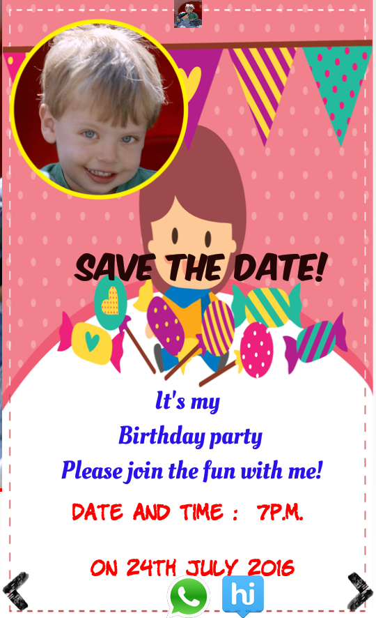 Birthday Invitation With Photo Android Apps On Google Play - Birthday invitation apps