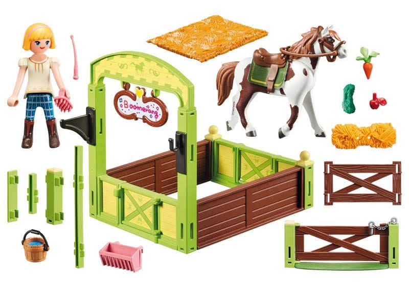 Contenido real de Playmobil® 9480 Establo Abigail y Boomerang