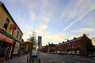 Photo: Pearse Street, where our hotel was located.