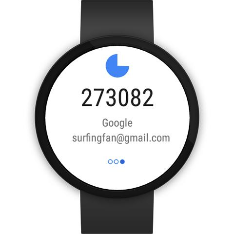 Google Authenticator – Screenshot