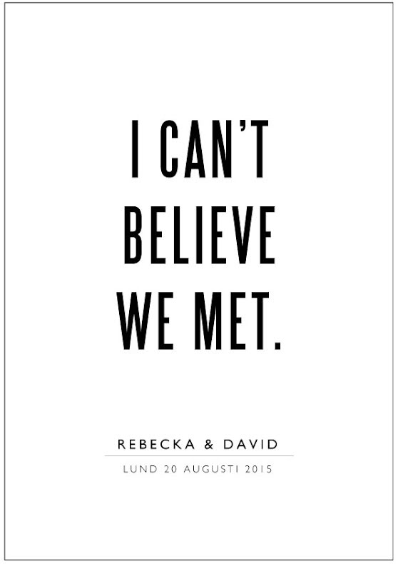 I CAN´T BELIEVE