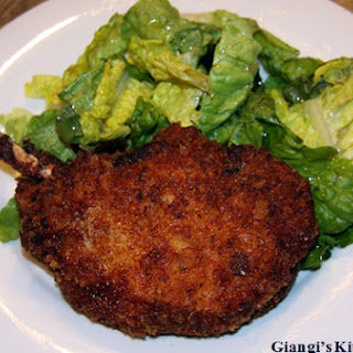 Breaded Pork Chops with Salad