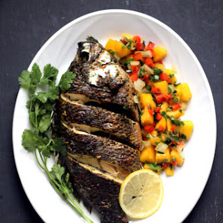 Baked Tilapia with Spicy Mango Salsa