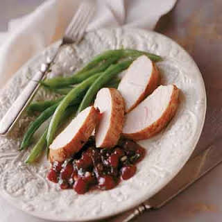 Turkey Tenderloins With Berry Chutney.