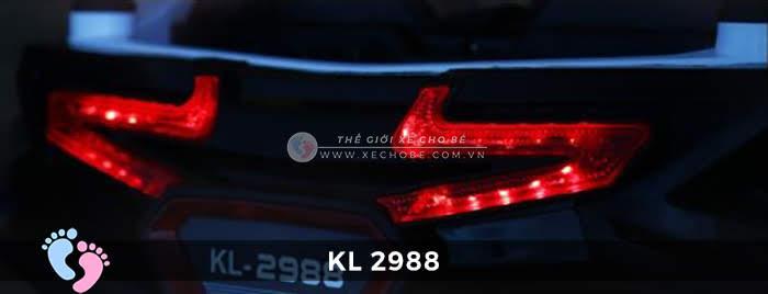 Xe ô tô điện đồ chơi trẻ em KL-2988 ghế da 15