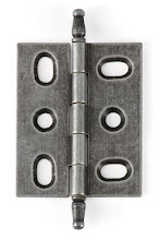 Photo: BH2A-IR for mortised inset cabinet doors in Iron finish