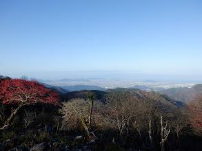 茶野から琵琶湖を望む
