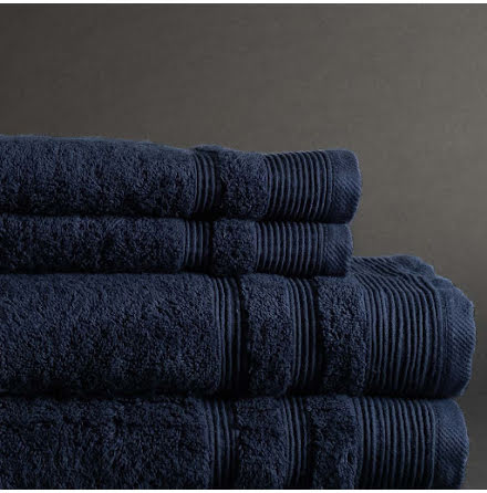 Ezra handduk marinblå - Exklusiv & ljuvlig