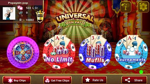 Universal Teen Patti - Indian Poker Game screenshots 2