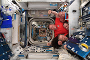 On August 27 2018 astronaut Ricky Arnold @astro_ricky tweeted from the International Space Station: A new outer space record – 6 people in a crew cabin the size of a phone booth!