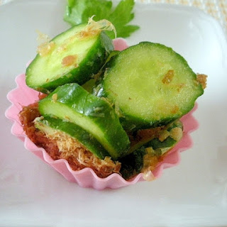 Cucumber Dressed in Dried Bonito Flakes and Umeboshi