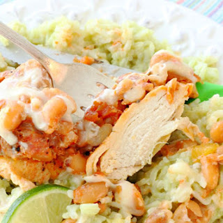 Salsa Chicken with Avocado Lime Rice.