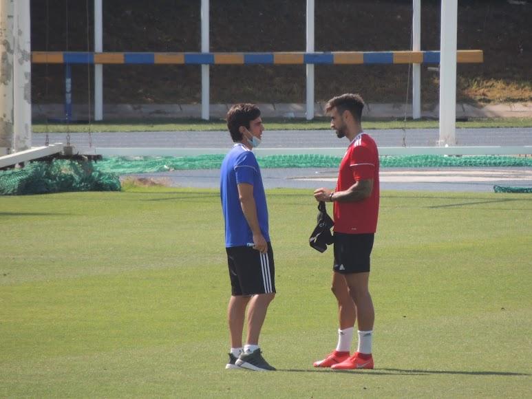 Mario Silva con David Costas.