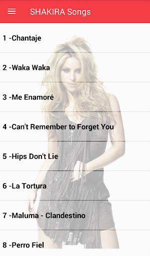 Shakira Songs Offline ( 40 Songs ) 1.1 screenshots 1