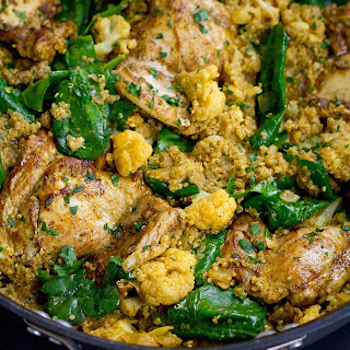 One-Pot Curry Chicken, Quinoa & Cauliflower {#VegItUp}.