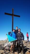 Photo: El Pol (cap de R/G), el Ges i el Pere al Puigmal (2.909m).