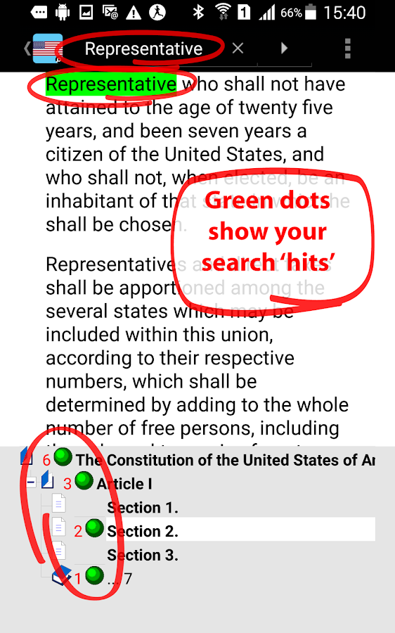 U.S. Constitution TurboSearch- screenshot
