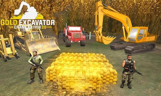 Gold Excavator Crane Driver 3D screenshot 4