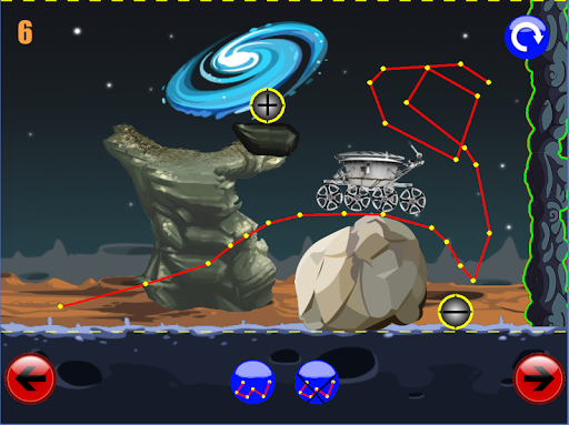 Lunokhod1: Brain On Physics Draw Drop Line Puzzles game (apk) free download for Android/PC/Windows screenshot