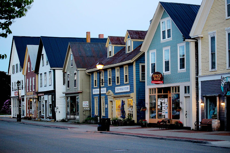 Scenic downtown St. Andrews on the coast of New Brunswick, Canada.