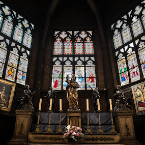 Church by Denis Sinoussi - Buildings & Architecture Public & Historical ( church, colors, gold, light,  )