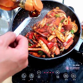 Spicy Korean Stir-fried Squid.