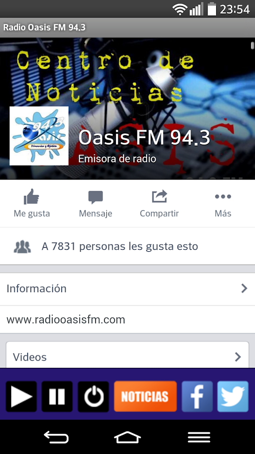 Radio Oasis FM 94.3- screenshot
