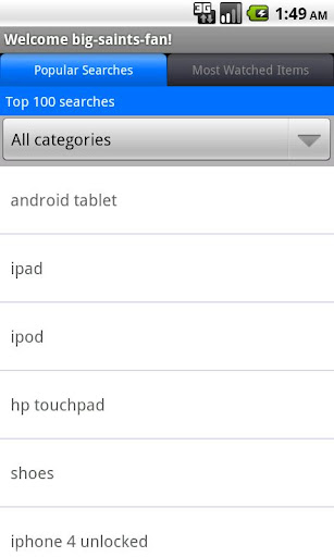Pocket Auctions for eBay screenshot 4