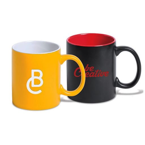 Coloured Engraved Ceramic Mugs