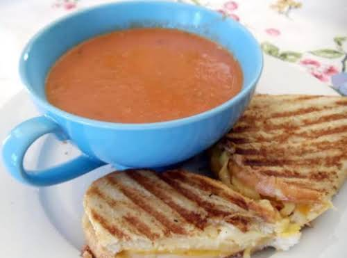 "MY Grilled Cheese and Tomato Soup ""Cooked this up for my family..."