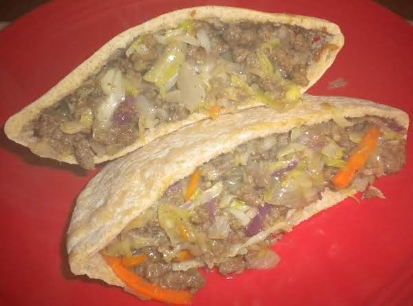 Beef And Cabbage Pitas