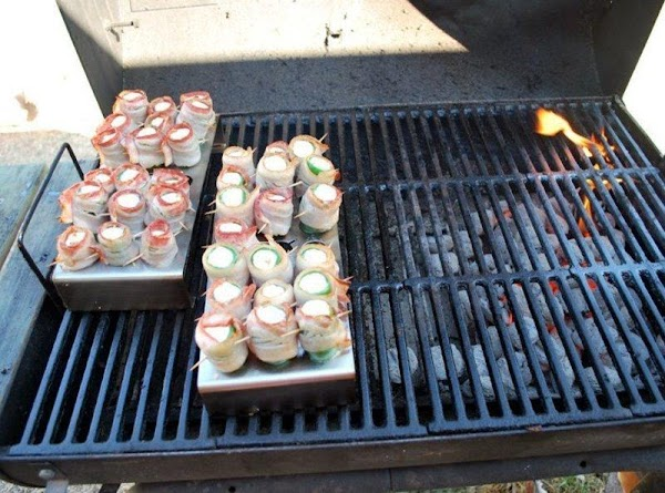 Place in grill (indirect heat) or smoker. Check on them every 30 minutes or...