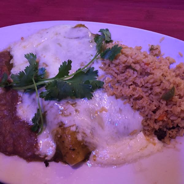 Beef enchiladas smothered in mozzarella :)