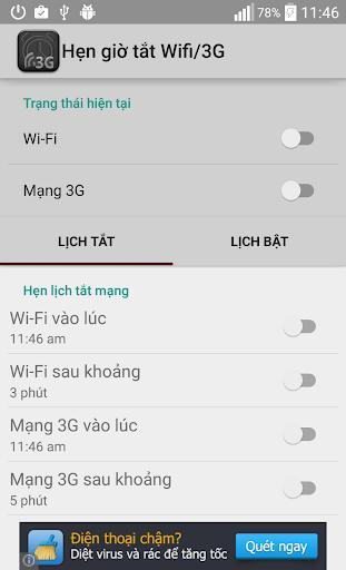 Hẹn Giờ Tắt Bật Wifi-3G