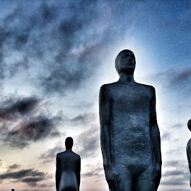 Men in Circle  by Jacque Raines - Artistic Objects Still Life ( airport iceland statue  men artistic  circle )